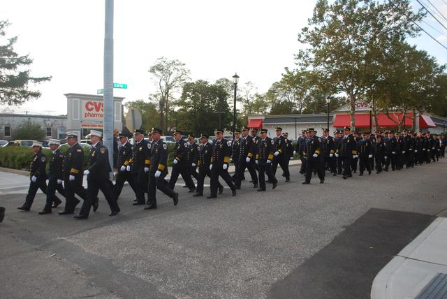 CM Firefighters joined by other Fire and EMS personnel from around the area