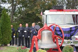 "Ex Captain Mike Whelan Strikes The Four Fives … A tradition where five bell strikes, repeated in four series, with a slight pause between each series. This symbolizes the rendering of final honors to departed comrades. This is known in the fire service as ""STRIKING THE FOUR FIVES""."