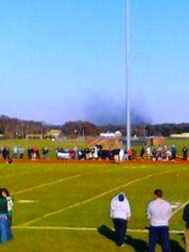 CM Fire seen from the Wm Floyd HS Football Field Mastic Rd & Mastic Beach Rd in Mastic