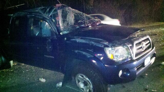 Sunrise Highway Rollover Injures One     - Center Moriches Fire