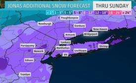 1 to 2 feet of snow forecasted for our area this weekend