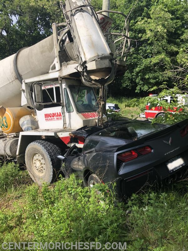 Cement Truck Crashes Into LIRR Overpass, Then Veers Into Oncoming