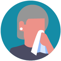 Cover your mouth and nose with a tissue when you cough or sneeze or use the inside of your elbow